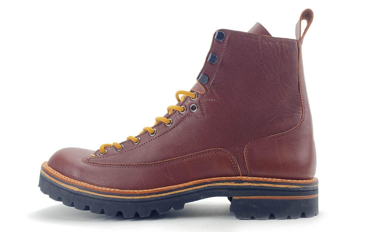 Arthpied > Pierle > pierle01brun > boots hommme montante avec trépointe cuir >